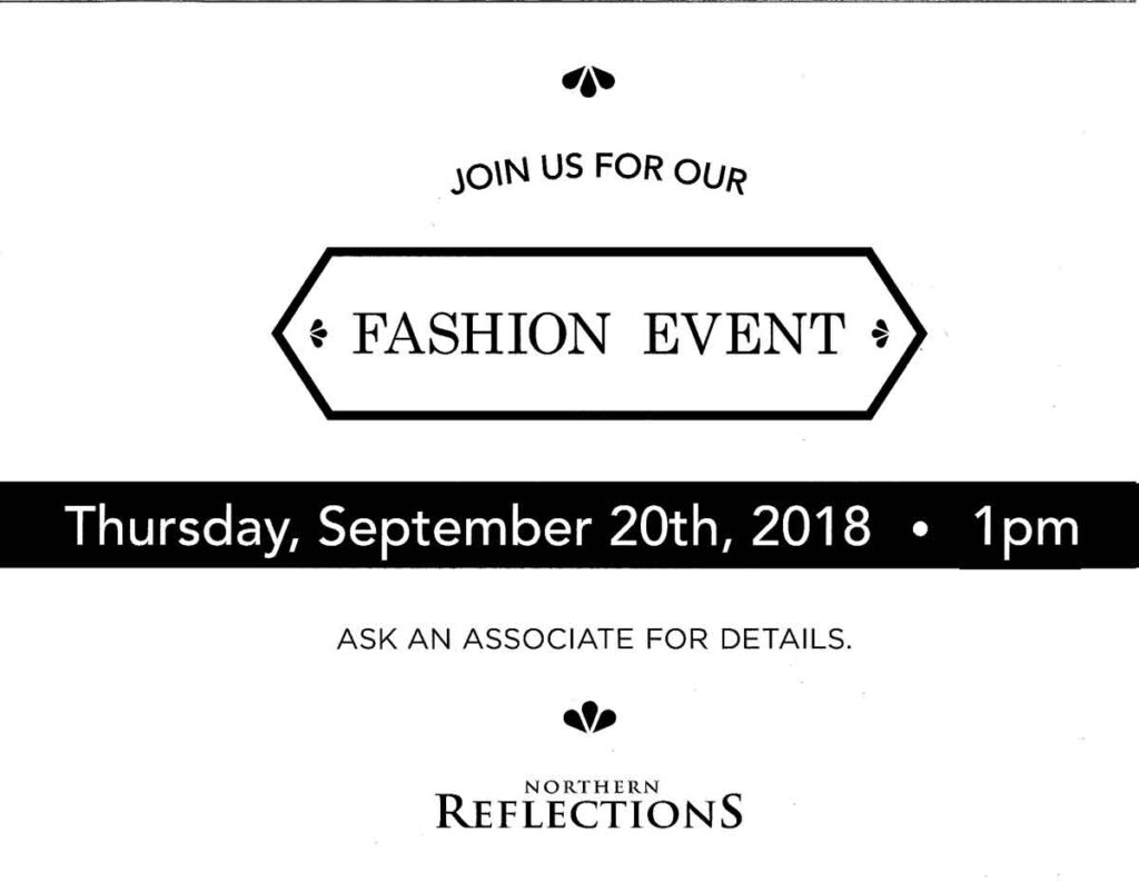 Antigonish Market Square Mall - Northern Reflections Fashion Event